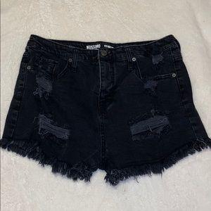 Black high-rise shorts